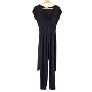 ROLLA COASTER | V-neck jumpsuit with tie front